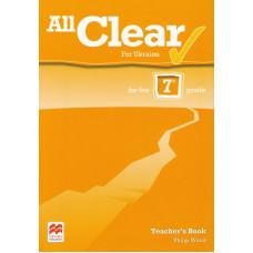 Книга вчителя All Clear for Ukraine 7 Teacher's Book