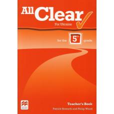 Книга вчителя All Clear for Ukraine 5 клас Teacher's Book