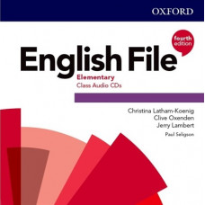 Аудіо диск English File 4th Edition Elementary Class Audio CD