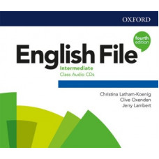 Аудіо диск English File 4th Edition Intermediate Class Audio CD