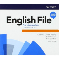 Аудіо диск English File 4th Edition Pre-Intermediate Class Audio CD