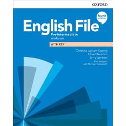 Зошит English File 4th Edition Pre-Intermediate Workbook with key