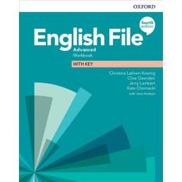 Зошит English File 4th Edition Advanced Workbook with key