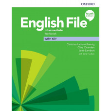 Зошит English File 4th Edition Intermediate Workbook with key