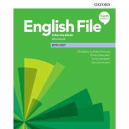Зошит English File 4th Edition Intermediate Workbook with key