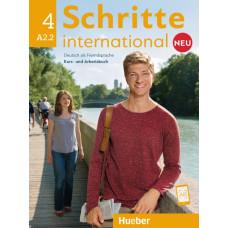 Підручник і зошит Schritte international Neu 4 Kurs- und Arbeitsbuch