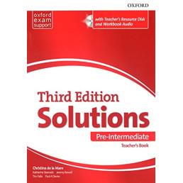 Книга вчителя Solutions 3rd Edition Pre-Intermediate Teacher's Book